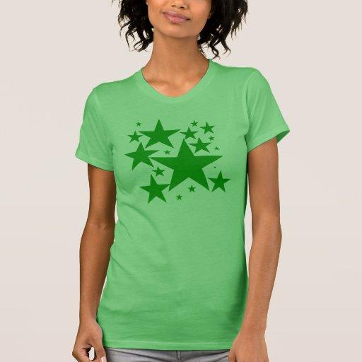 Camiseta verde de la estrella