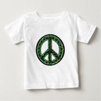 camiseta verde de la paz