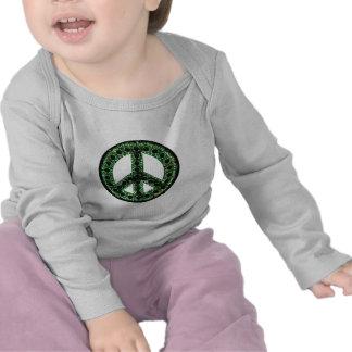camiseta verde de la paz L.S.