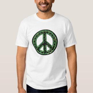 camiseta verde de la paz poleras