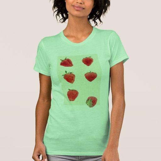 Camiseta verde de las señoras de las rayas de las