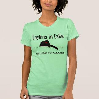 Camiseta verde de las señoras remera