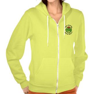 Camiseta verde de los guerreros de Eco Sudadera Encapuchada