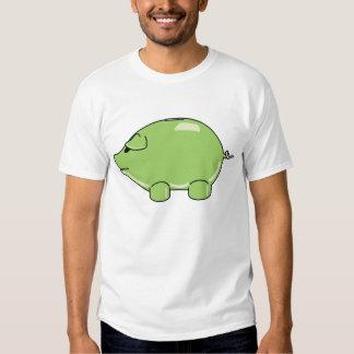 Camiseta VERDE del CERDO Playera