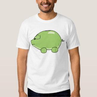 Camiseta verde del cerdo remera