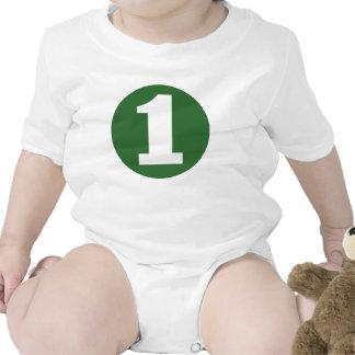 Camiseta verde del CUMPLEAÑOS del RECORTE #1 de la