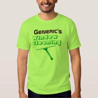 Camiseta verde del limpiador de ventana favorable poleras