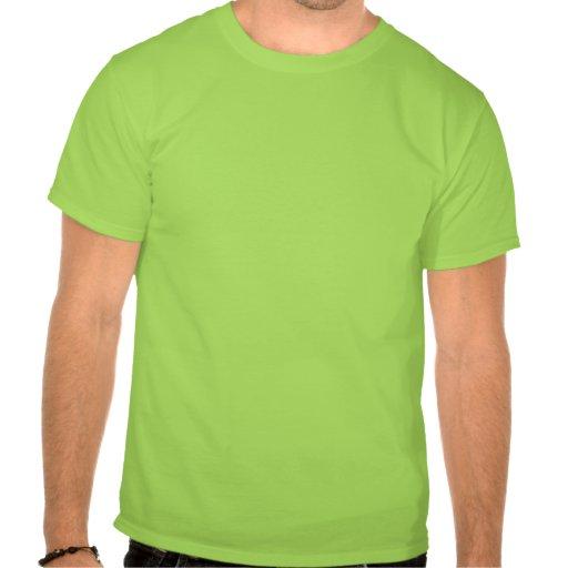 Camiseta verde del logotipo