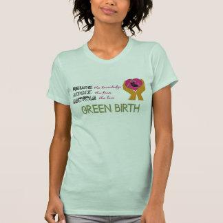 Camiseta verde del nacimiento