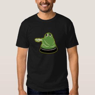 camiseta verde del negro del fantasma de los años remera
