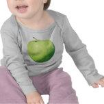 Camiseta verde del niño de Apple