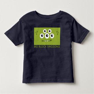 Camiseta verde del niño de Dah de la camiseta del