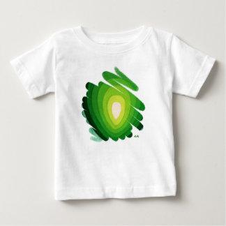 Camiseta verde del niño de los espirales del arte remeras