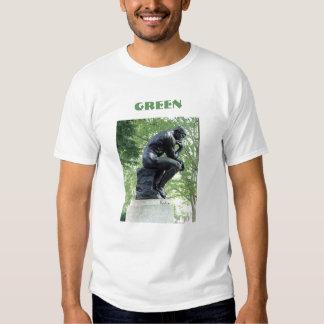 Camiseta verde del pensador polera