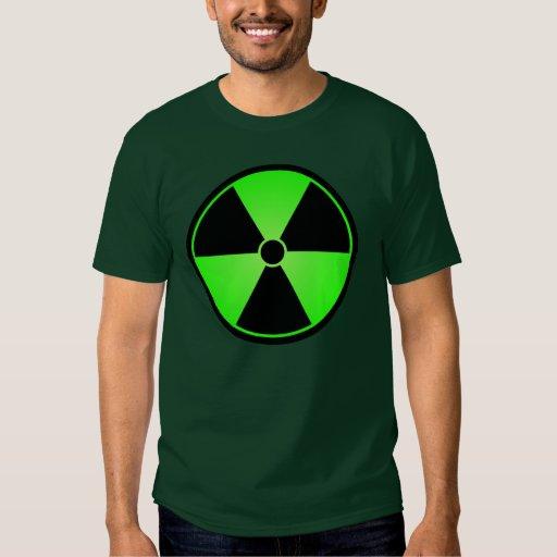 Camiseta verde del símbolo de la radiación remera