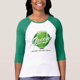 Camiseta verde del smoothie