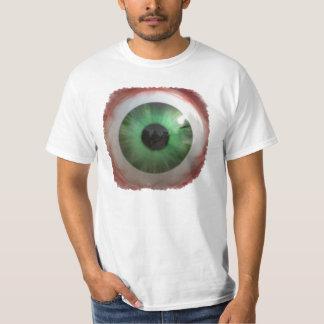Camiseta verde fantasmagórica de la diversión de H Playeras