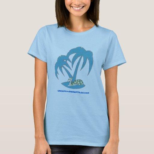 Camiseta verde oficial de los reptiles del oasis
