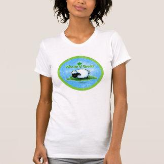 Camiseta verde pequenita del pedazo o