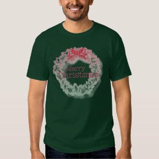Camiseta verde roja de la guirnalda del navidad polera