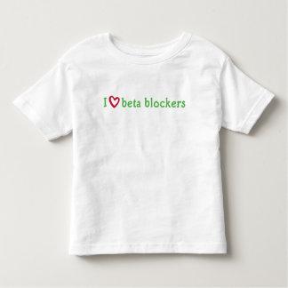 camiseta verde roja de los moldes beta del corazón