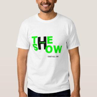 Camiseta verde y negra del logotipo remeras