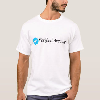 Camiseta verificada gorjeo de la cuenta