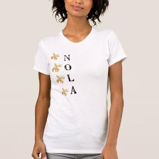 Camiseta vertical de NOLA Vtg de la flor de lis