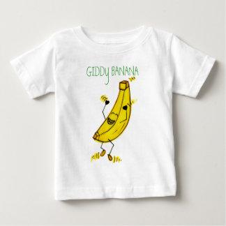 Camiseta vertiginosa del plátano playeras