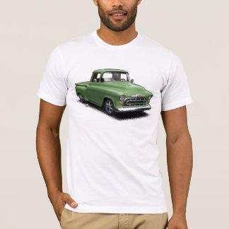Camiseta vieja cauchutosa verde de la recogida del