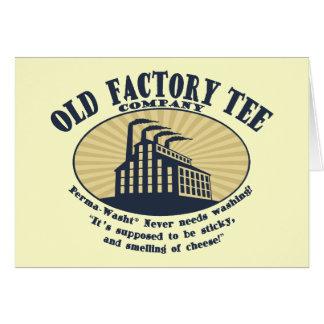Camiseta vieja Co. de la fábrica Tarjeta De Felicitación