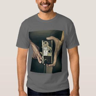 Camiseta vieja de la cámara polera