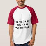 Camiseta vieja de los coordenadas de Trafford - de
