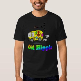 Camiseta vieja del autobús del Hippie Poleras