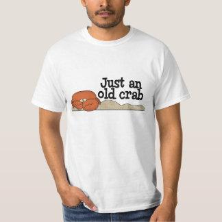 Camiseta vieja del cangrejo remera