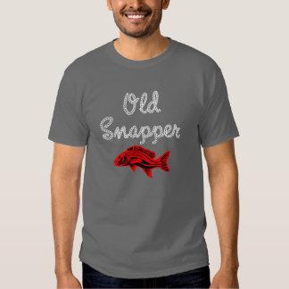 Camiseta vieja gruñona de los pescados del pargo r playeras