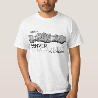 Camiseta vieja histórica del valor de la ciudad de