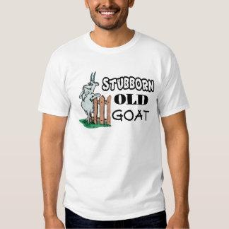 Camiseta vieja obstinada de la cabra poleras