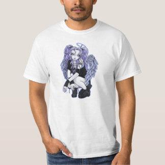 Camiseta violeta gótica del ángel de Angelina Poleras