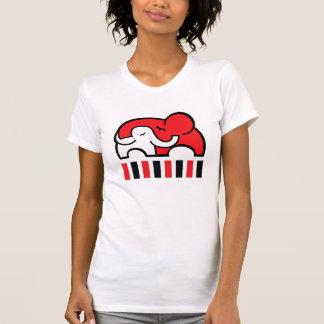 Camiseta visual infantil del abrazo del elefante