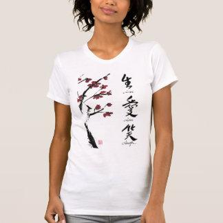 Camiseta viva de la risa del amor playera