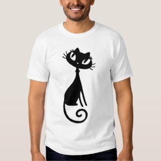Camiseta VIVA del edun del bebé del gato negro Poleras