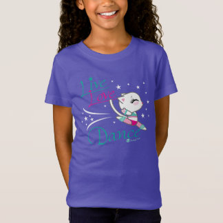 Camiseta viva del gato de la danza del amor por poleras