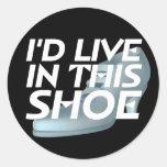 CAMISETA viva para los zapatos Pegatinas Redondas