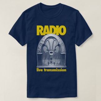 Camiseta viva retra de la transmisión de la prueba