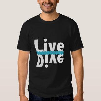 Camiseta viva/zambullida reflejada playera