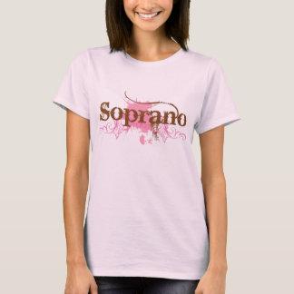 Camiseta vocal del cantante del soprano