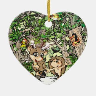 Camiseta y ornamento del corazón de Heddie Ornamentos De Reyes