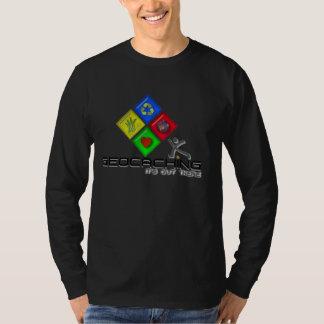 Camiseta y regalos de Geocaching Stickman Polera