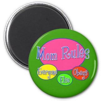 Camiseta y regalos lindos del día de madre imán redondo 5 cm